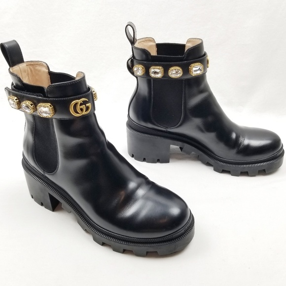 Gucci Shoes | Gucci Leather Ankle Boot